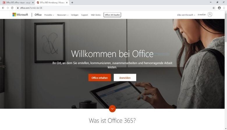office365-offline-login-bereich