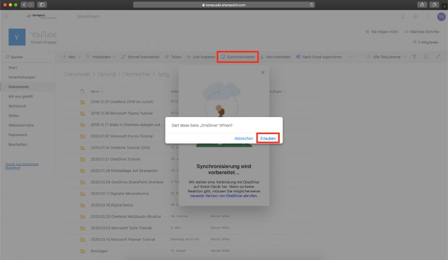onedrive-mac-synchronisation-sharepoint