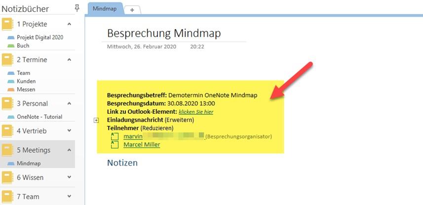 onenote-mindmap-besprechungsdetails-eingefuegt