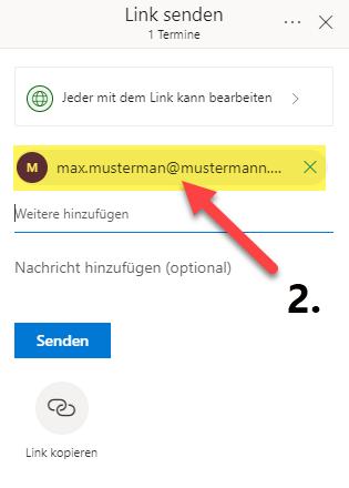 onenote-notizbuch-freigeben-empfaenger-emailadresse-eingeben