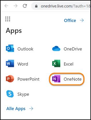 onenote-online-web-app-starten
