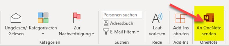 onenote-outlook-funktion-an-onenote-senden-neuer-button