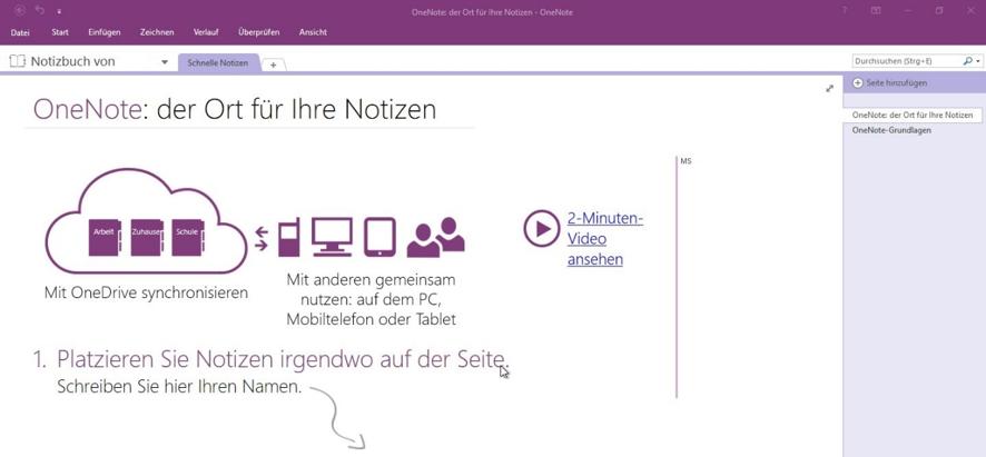 onenote-sharepoint-erste-schritte