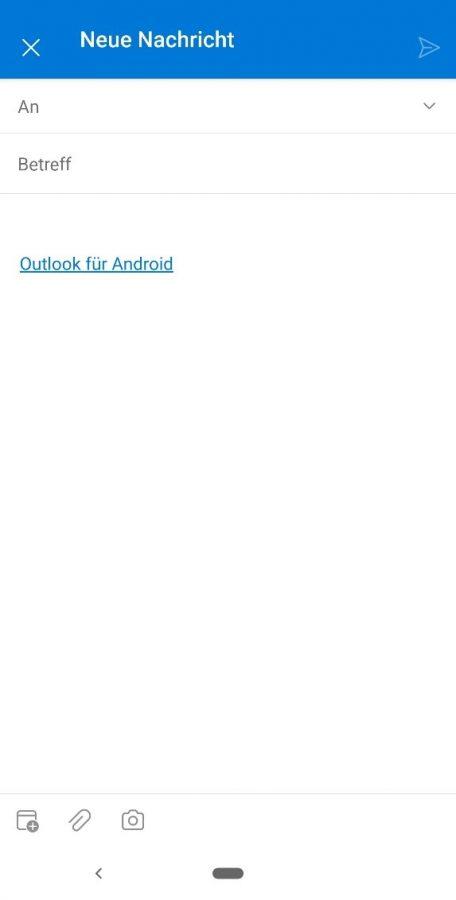 outlook-android-app-benutzeroberflaeche