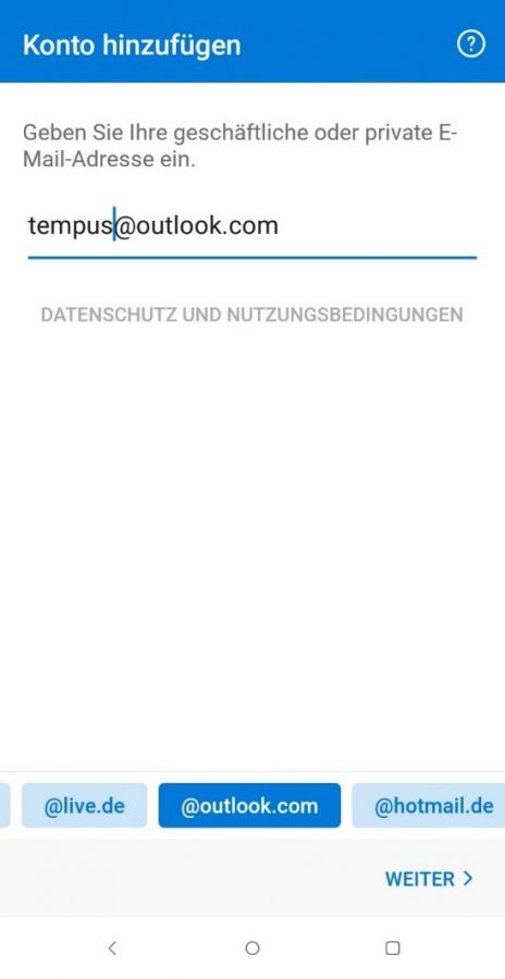 outlook-android-app-e-mail-adresse-eingeben