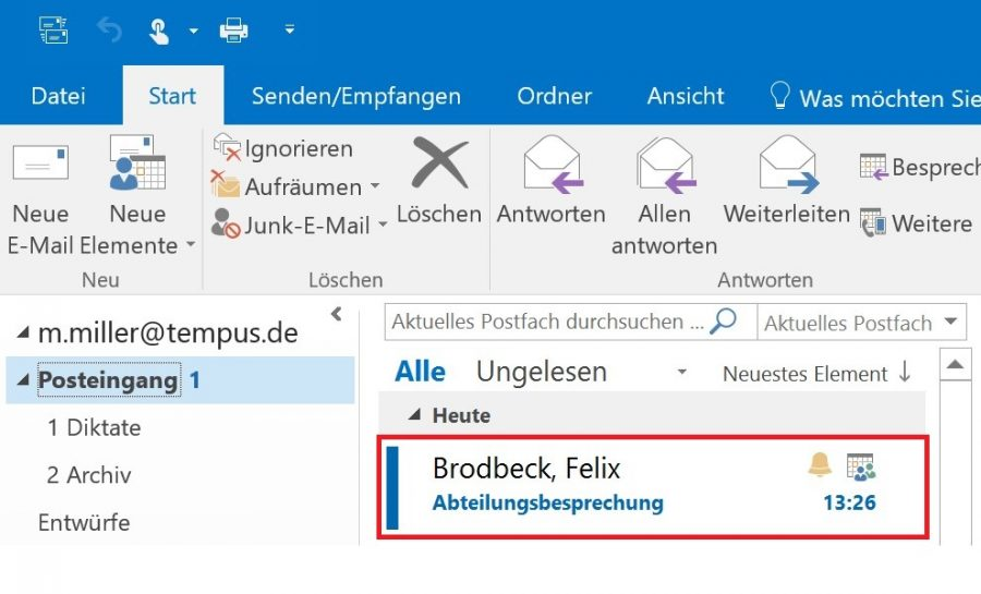 In der Outlook 2013 Version können Sie E-Mails beliebig nach gelesen uns ungelesen filtern.