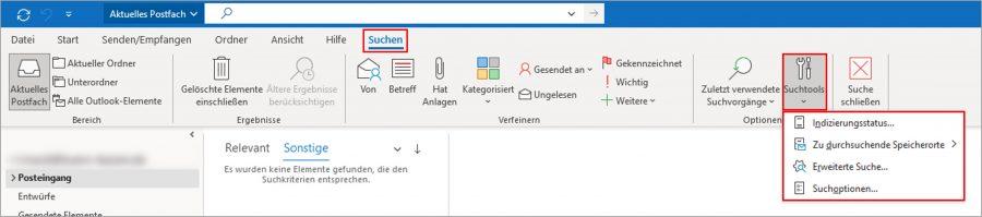 """Mit der zusätzlichen Suchfunktion """"Erweiterte Suche"""" können Sie noch besser nach E-Mails, Aufgaben, Kontakten... in Outlook suchen."""