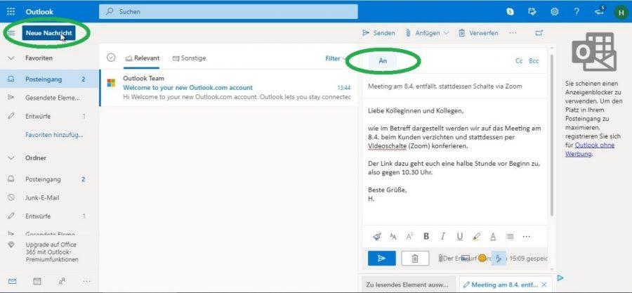 outlook-registrieren-neue-email-mit-einem-klick-verfassen