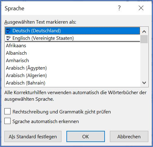 outlook-sprache-aendern-korrektursprache