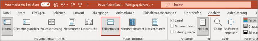 Über den Folienmaster können Sie die Dateigröße Ihrer PowerPoint verkleinern.