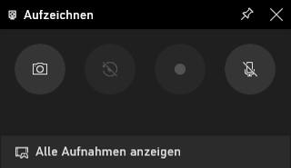 Starten Sie Ihre Bildschirmaufnahme im Widget-Bereich der Xbox Game Bar.