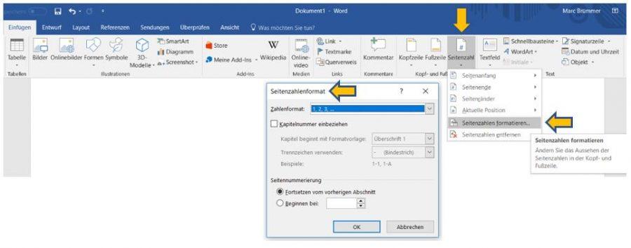 seitenzahlen-word-benutzerdeginiert-formatieren