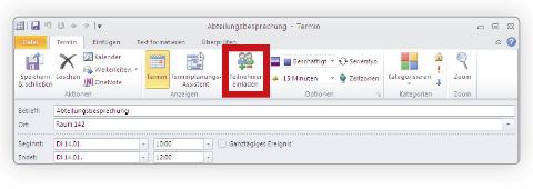 Terminabstimmung durch Outlook Funktion