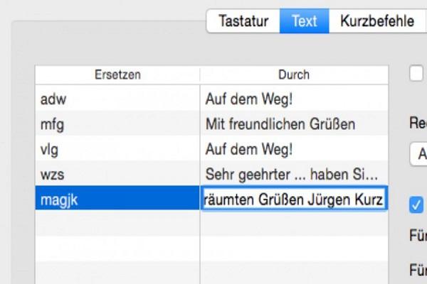 Textbaustein-Varianten leicht definieren
