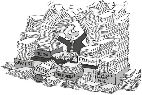 Verschwendete Arbeitseffizienz durch ständiges suchen