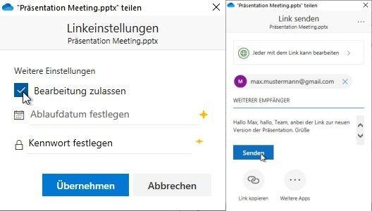 windows-onedrive-berechtigung-empfaenger-text-hinzufuegen