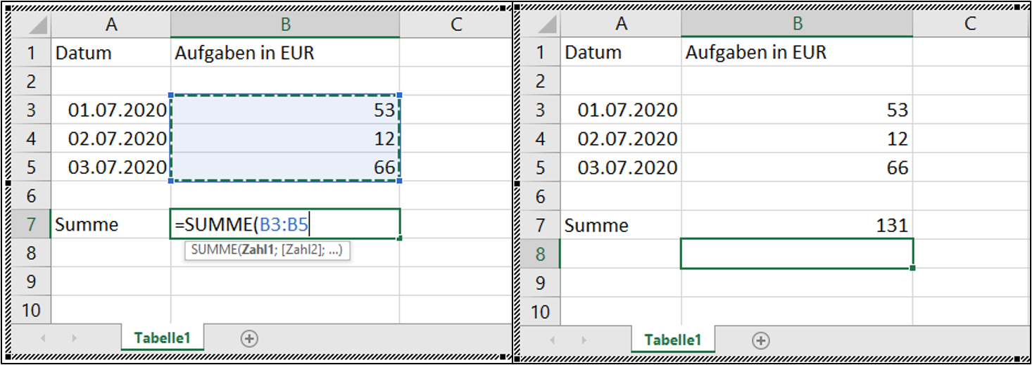 word-excel-summe