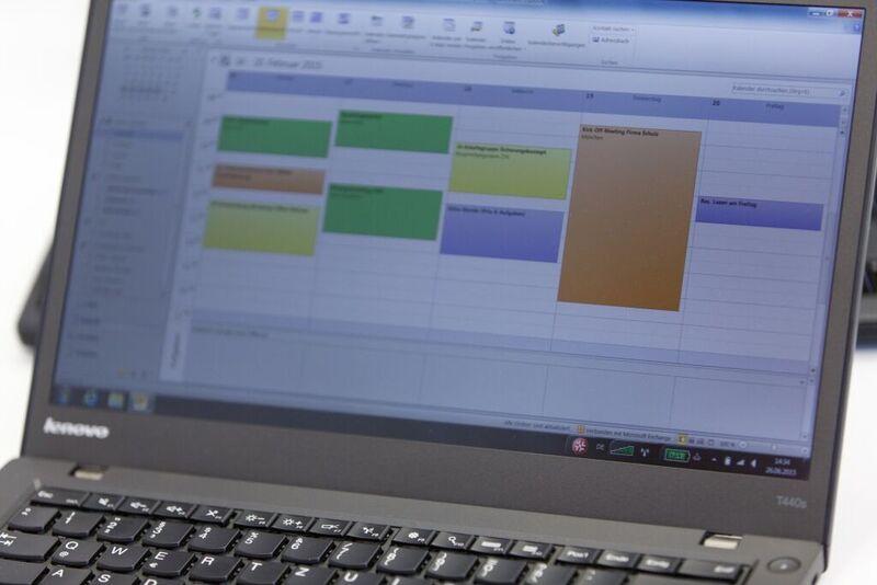 Zeitplan Projekt mit Outlook